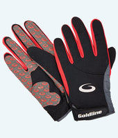 Men's Black with Red Precision Curling Gloves