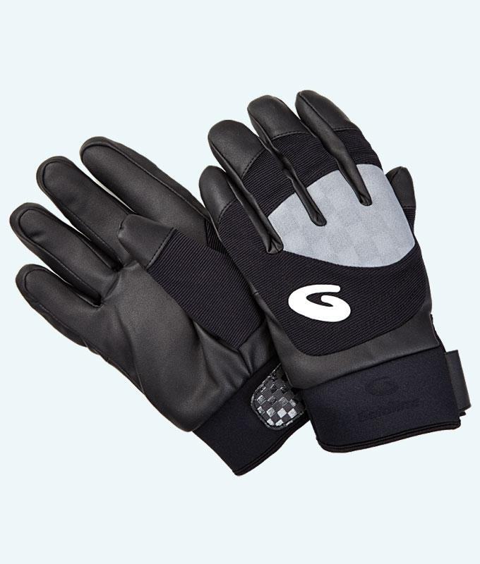 Men's Black & Grey Thermocurl Curling Gloves