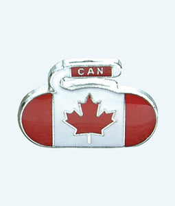 National Curling Rock Flag Pins