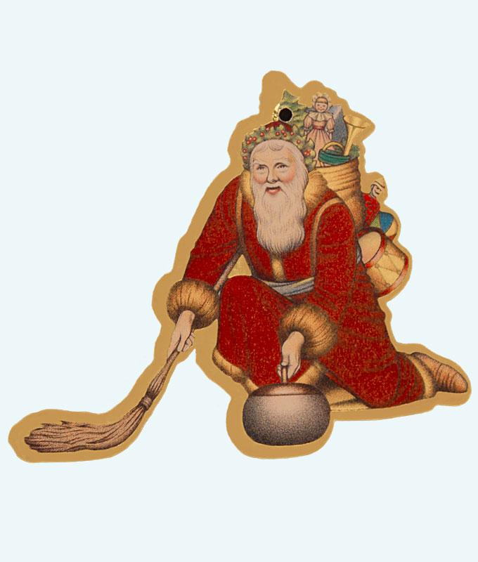 Father Christmas Tree Ornaments (Pack of 3)