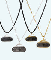 Granite Stone Curling Rock Necklace - In 2D