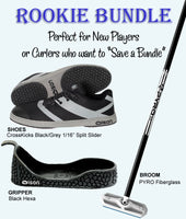 Rookie Bundle - Men's Left Hand Delivery With CrossKicks Black/Grey Shoes