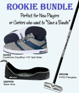Rookie Bundle - Men's Right Hand Delivery With CrossKicks Grey/Navy Shoes