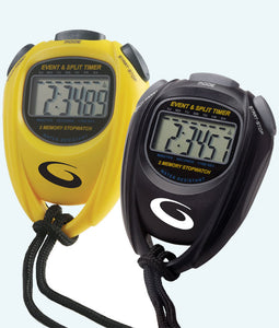 Goldline Curling Stopwatch - Black and Yellow