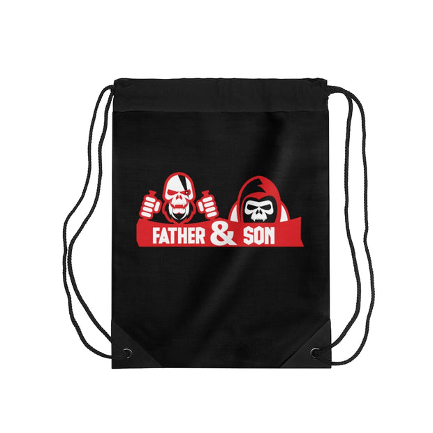 Father & Son Drawstring Bag