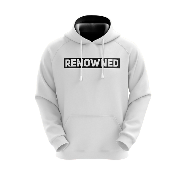 Renowned Hoodie White/Black