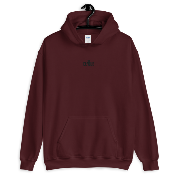 The Clique Red Embroidered Hoodie
