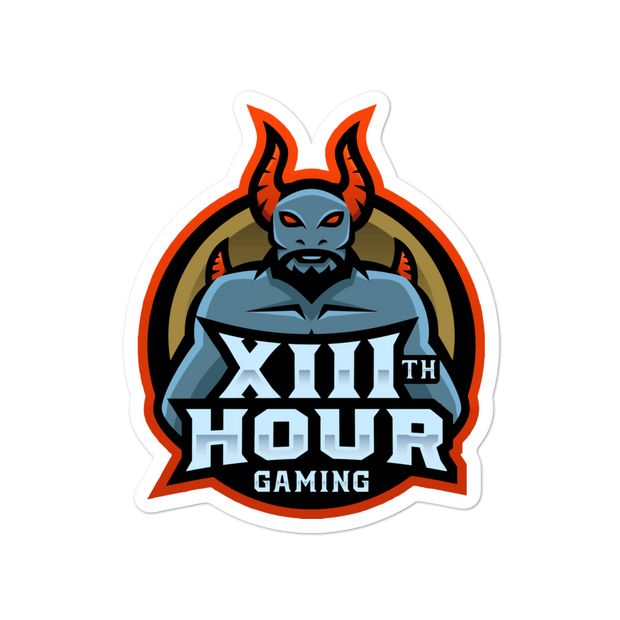 13th Hour Gaming Stickers