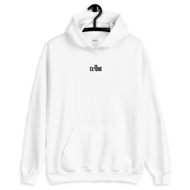 The Clique White Embroidered Hoodie
