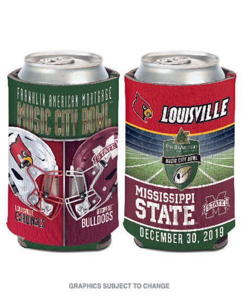 Mississippi State Bulldogs V Louisville Cardinals 2019 Music City Bowl Can Cooler