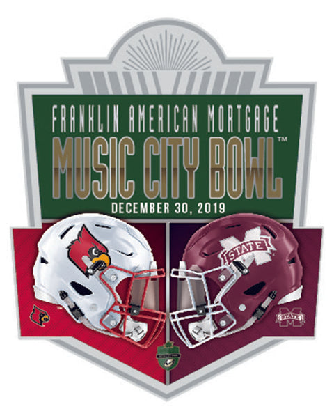 Mississippi State Bulldogs V Louisville Cardinals 2019 Music City Bowl Lapel Pin