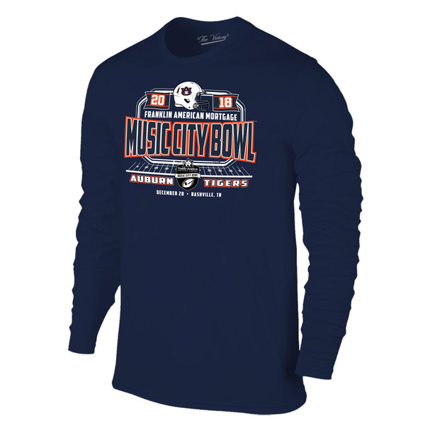 Music City Bowl Auburn Long Sleeve The Victory Tee Shirt by Retro Brand