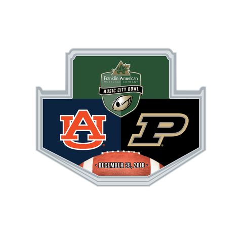 Music City Bowl Wincraft Auburn Vs. Purdue Lapel Pin