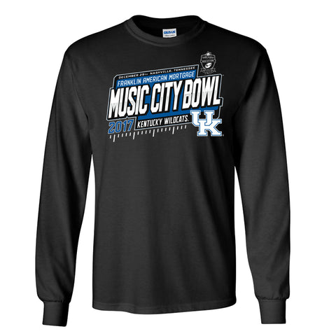 2017 Music City Bowl Kentucky Men's Cotton Long Sleeve Tee