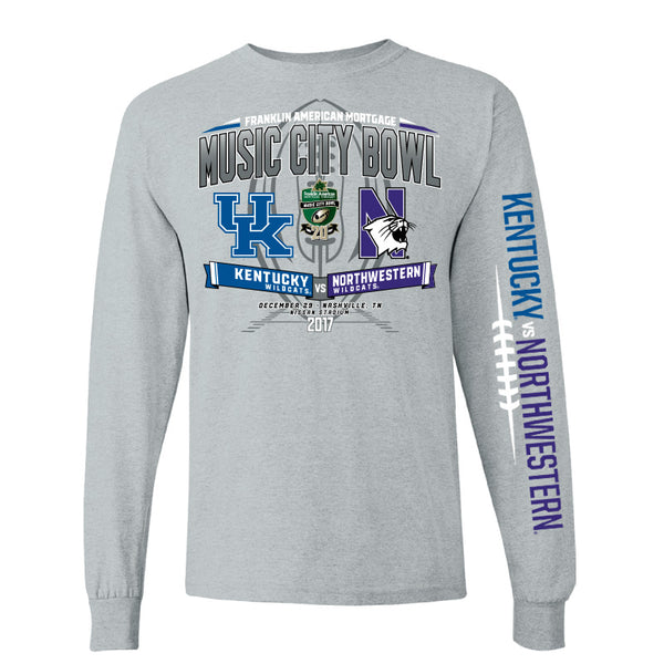 2017 Music City Bowl Team-vs-Team Men's Cotton Long Sleeve Tee