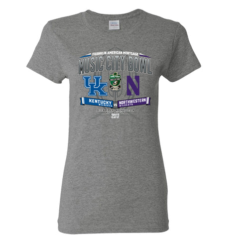 2017 Music City Bowl Team-vs-Team Women's Cotton Short Sleeve Tee