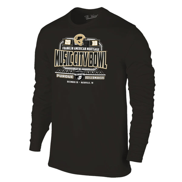 Music City Bowl Purdue Long Sleeve The Victory Tee Shirt by Retro Brand