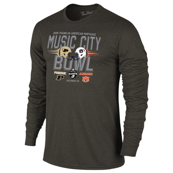 Music City Bowl Auburn Vs. Purdue Long Sleeve The Victory Tee Shirt by Retro Brand
