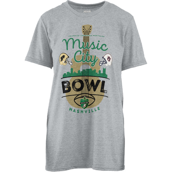 Music City Bowl Pressbox Auburn Vs. Purdue Women's Tee Shirt
