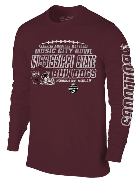Mississippi State Bulldogs 2019 Music City Bowl Long Sleeve T-Shirt
