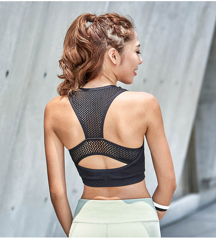 Cropped Breathable Sports Bra