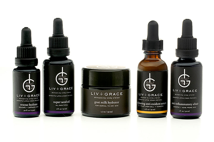 A bespoke collection of customizable skincare to Heal, Repair and Rejuvenate your skin with botanical serums and moisturizer that are Alive and rich with Organic and Natural ingredients proven to work!  LIV+GRACE SKINCARE by Cindy O'Brien a bespoke collection of powerful, ultra clean and nontoxic skincare line from Napa, California.