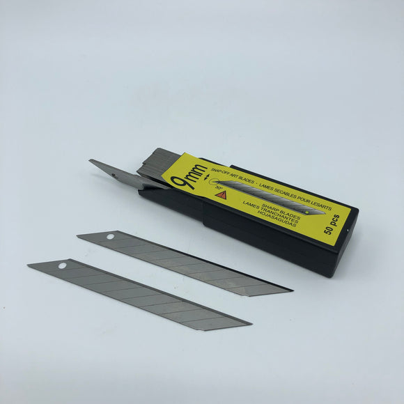 9mm Carbon Steel 30 Degree Blades 50 pack