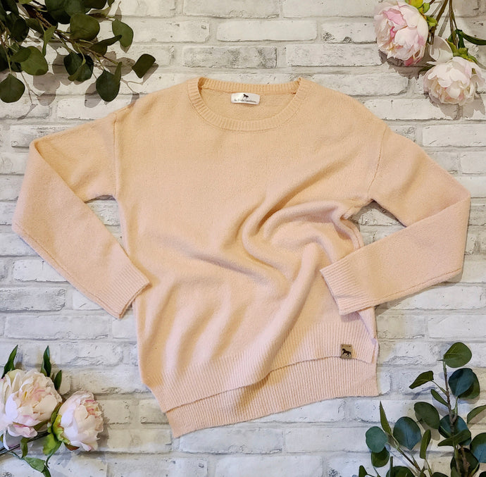 BLISSFUL BLENHEIM KNIT SWEATER - Peach