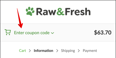 Where to enter your discount code