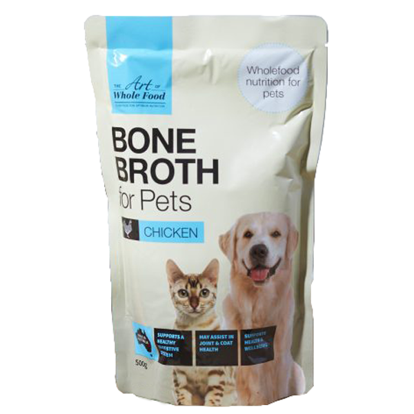 Chicken Bone Broth for Dogs and Cats