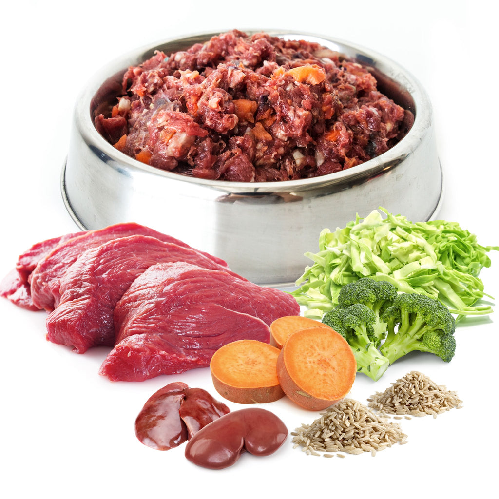 Beef Deluxe Raw Dog Food Home Delivered|hero