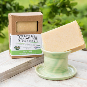 Rock Bottom Soap - All Essential Oil Tea Tree Goat Milk Soap