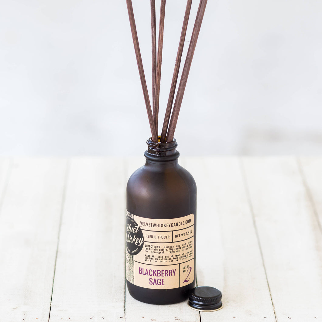 Velvet Whiskey Candle Co - 3.5 oz Reed Diffuser