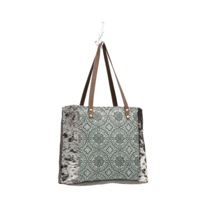 Floral Chic Canvas Tote Bag