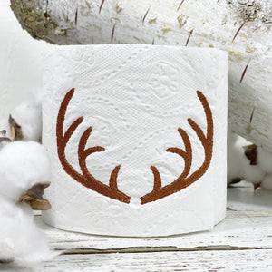 Antler Embroidered Tissue Roll