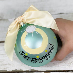 Just Engaged Ball Ornament