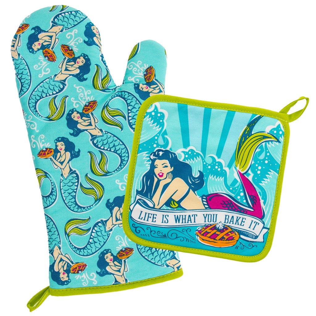 Mermaid Oven Mitt Set