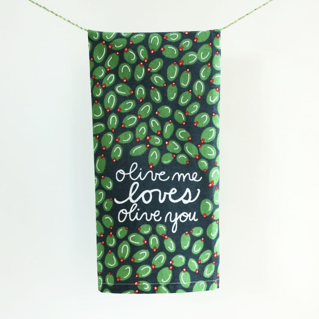 Olive Me Loves Olive You • Hang Tight Towel