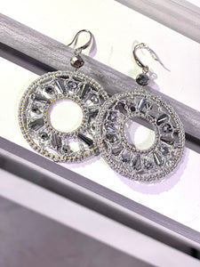 Crochet Crystal Earrings