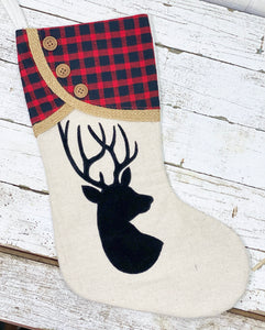 Christmas Deer Stocking
