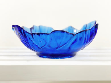 Cobalt Blue Leaf Bowl