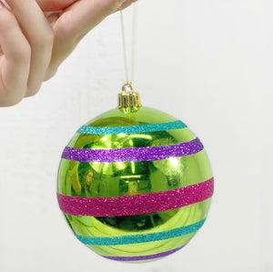 Whimsy Stripped Ball Ornament