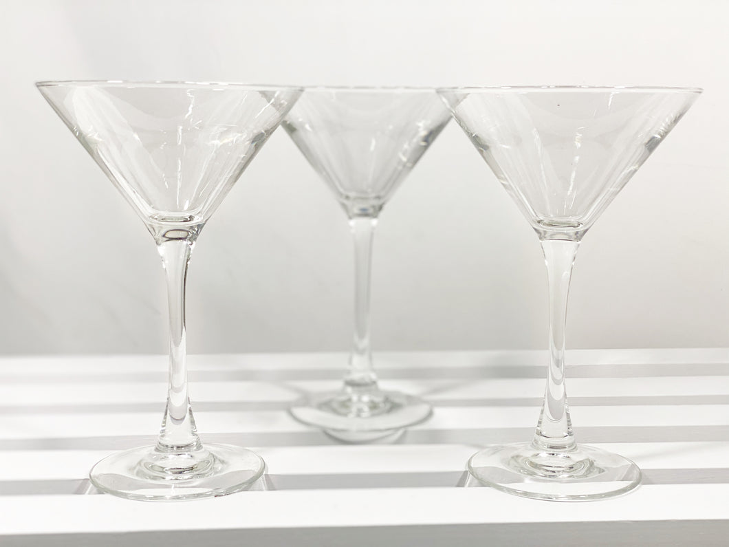 Trio of Martini Glasses