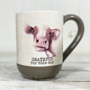 Grateful Cow Ceramic Mug