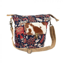 Paisley Hair-On Pocket Shoulder Bag