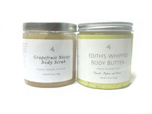 "Edith's Match Maker ""Body Scrub & Whipped Hair & Body Butter"" Skin Duo"