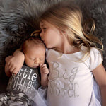 Big Sister T-shirt  /  Little Brother Romper