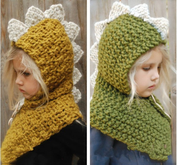 Hooded Scarf Set Knitted Cap