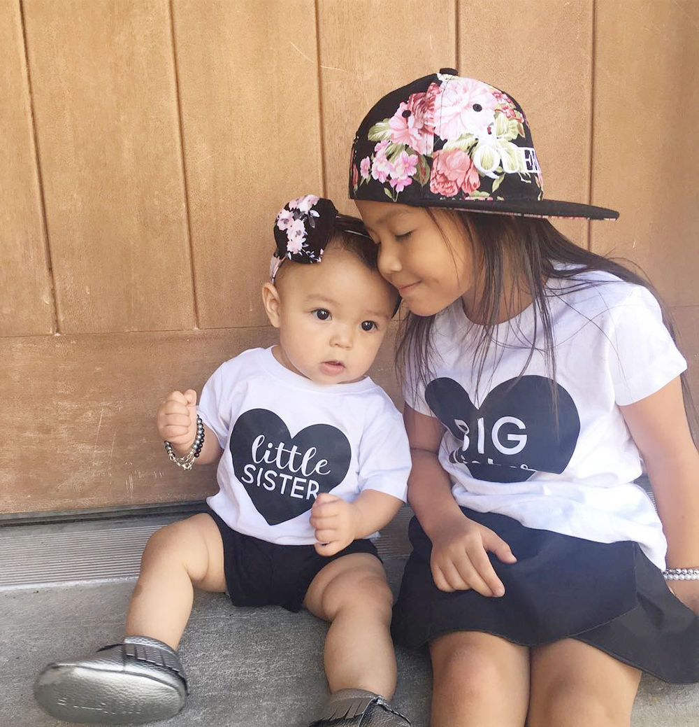 Big Sister T-shirt / Little Sister Romper