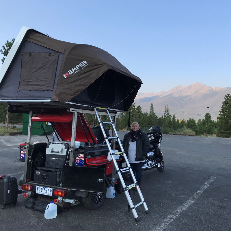 KUFU Bike trailer set up Colorado